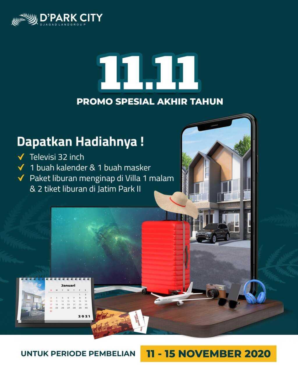 rumah syariah malang - rumah malang - rumah dijual malang - rumah dijual pakisaji - promo 11 bulan november 2020 - d'park city - dav digi